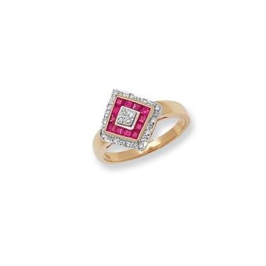 9ct Diamond and Ruby Ring Core Stock Sept 2013