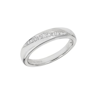 9ct Diamond Crossover Ring 0.09ct