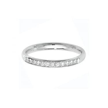 9ct White Gold 1/3 Eternity Diamond Grain Set Ring