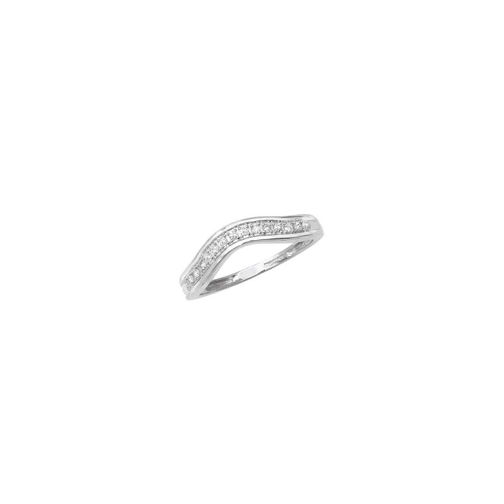 set ring milgrain channel band diamond curved wedding rings gold