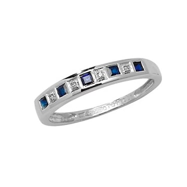 9ct White Gold Diamond & Sapphire S/0.35 D/0.013CT Core Stock Sept 2013