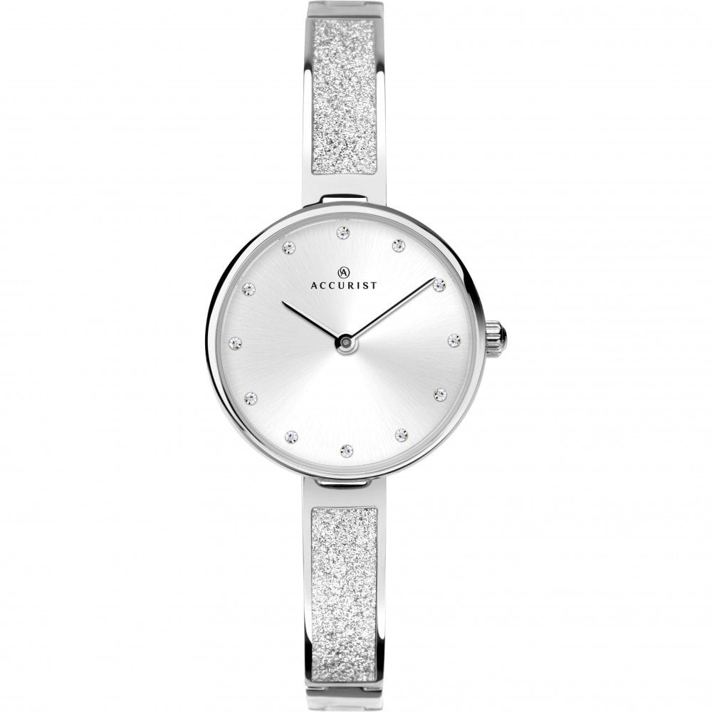4863f6722 Accurist Ladies Silver Glitter Watch - Watches from Faith Jewellers UK