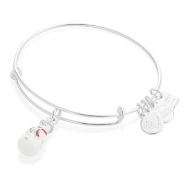 Alex and Ani Colour Infusion Snowman Shiny Silver