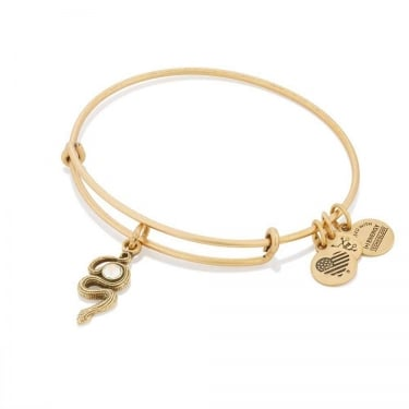 Alex and Ani Snake With Crystal Rafaelian Gold