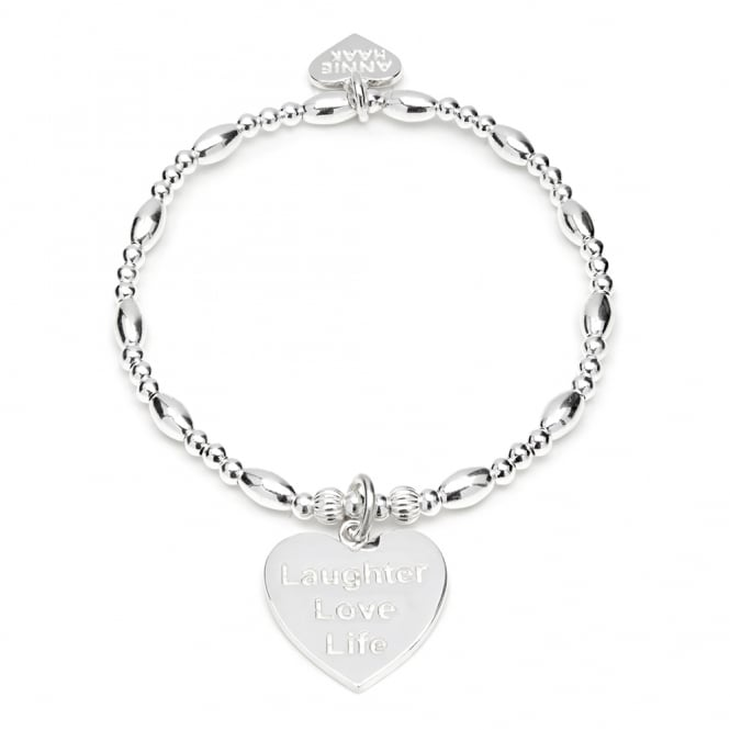 Annie Haak Biji Silver Laughter Love Life Charm Bracelet