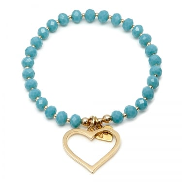 Annie Haak Ladies Love to Have Fun Turquoise Silver Charm Bracelet