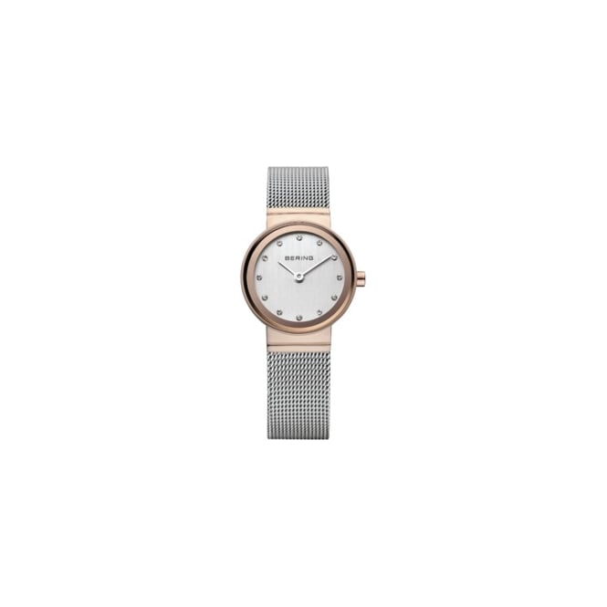 Bering Ladies Classic Silver and Rose Gold Watch