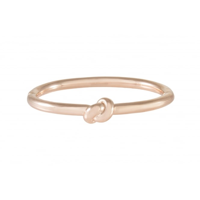 Bronzallure Bangle with Knot 18ct Rose Gold Plated