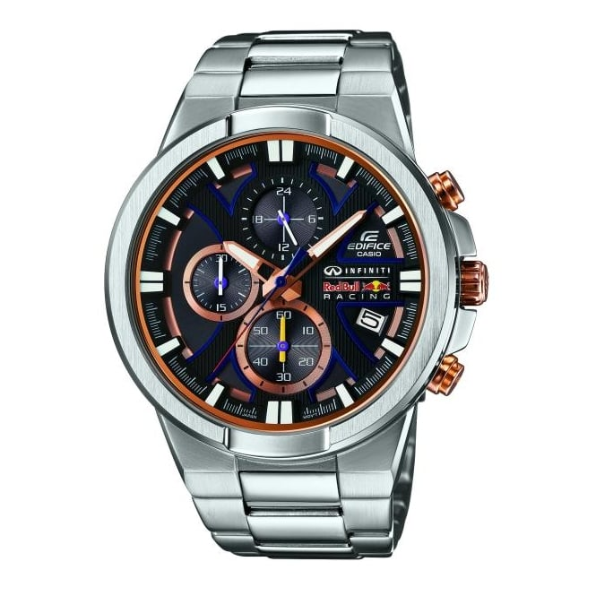 Casio Gents Silver Redbull Watch