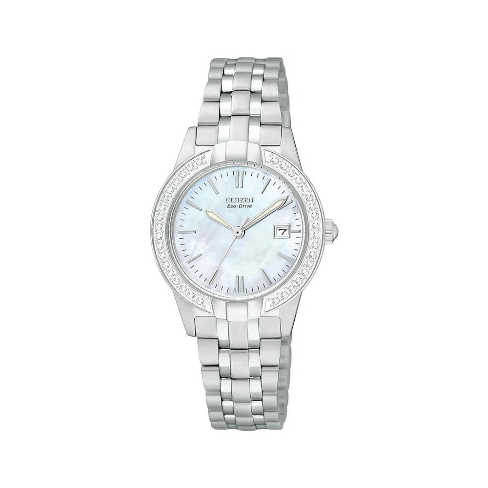 Citizen Watch Ladies Eco-Drive Crystal Case - Watches from Faith ... 2a0c28f08