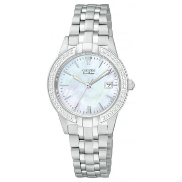 Citizen Watch Ladies Eco-Drive Crystal Case