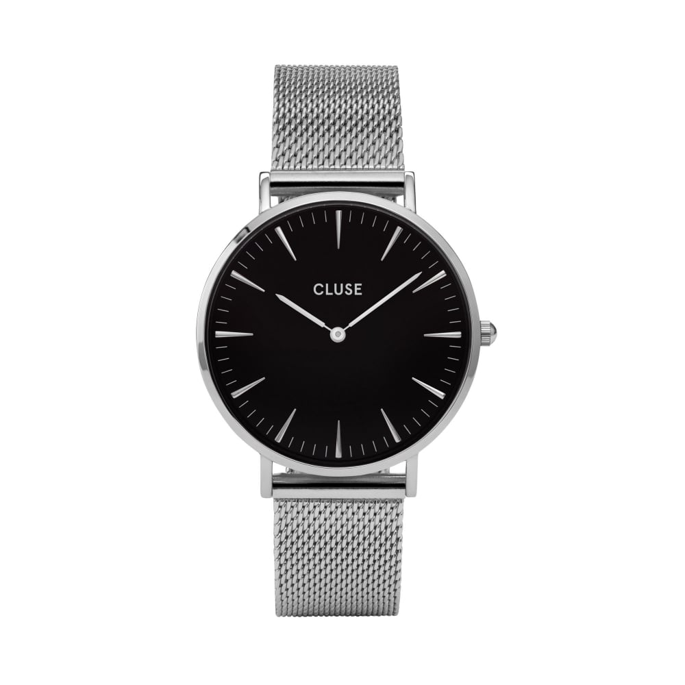 face black metal promotional stainless steel detail couple band lobor watches watch product