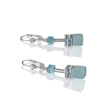 Coeur De Lion GeoCube Aqua Earrings
