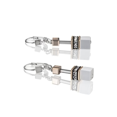 Coeur De Lion GeoCube White Earrings