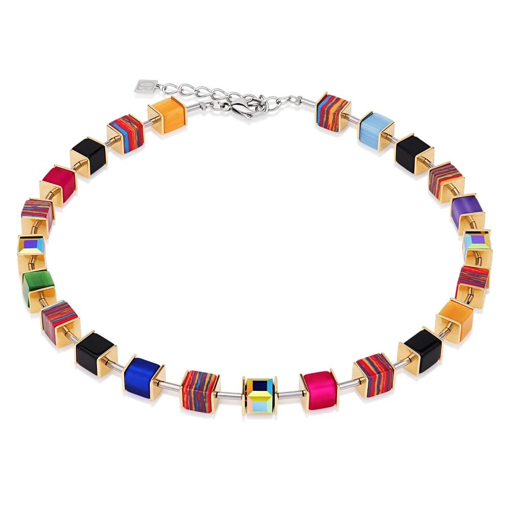 buy cheap entire collection wholesale outlet Coeur De Lion Multi Colour Geo Cube Collier Swarovski® Crystals ...