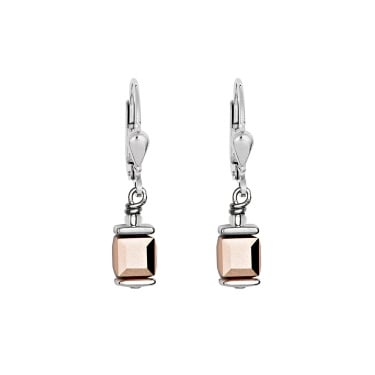 Coeur De Lion Rose Gold Swarovski Crystal Earrings