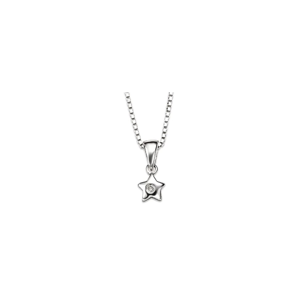 D for diamond sterling silver with diamond star pendant necklaces d for diamond sterling silver with diamond star pendant aloadofball Choice Image