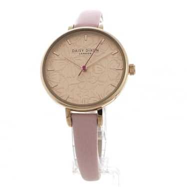 Daisy Dixon Pale Pink Strap With Rose Gold Face Watch