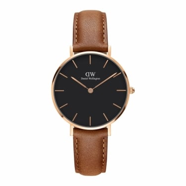 Daniel Wellington Classic Black Petite Durham Rose Gold 32mm Watch