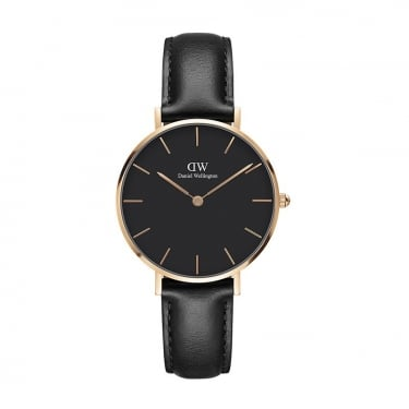 Daniel Wellington Classic Black Petite Sheffield Rose Gold 32mm Watch