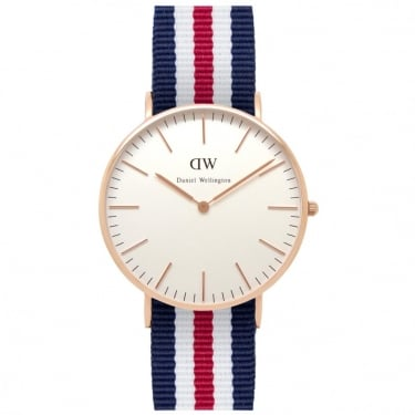 Daniel Wellington Classic Canterbury Rose Gold 36mm Watch