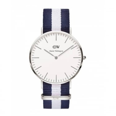 Daniel Wellington Classic Glasgow Silver 40mm Watch