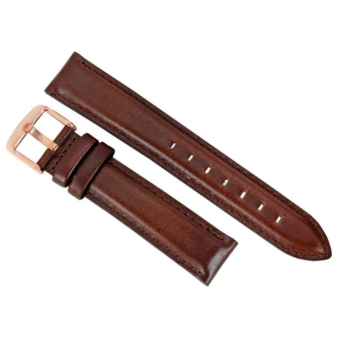 Daniel Wellington Dapper St Mawes Rose Gold Leather Strap 17mm