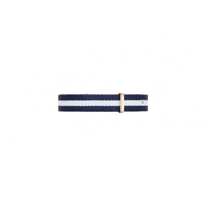 Daniel Wellington Glasgow Rose Navy & White Strap 20MM