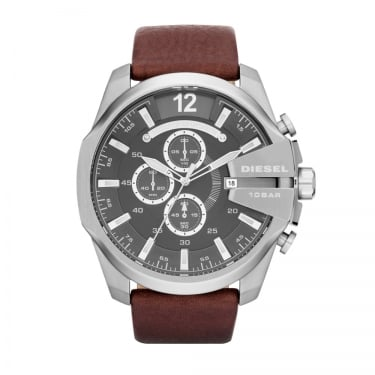 Diesel Brown Leather Strap Chief Series Watch