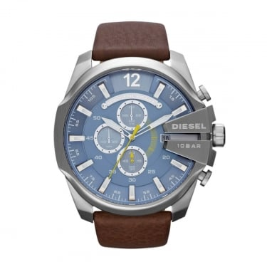 Diesel Gents Advanced Diesel Chief Series Navy Face with Leather Strap Watch