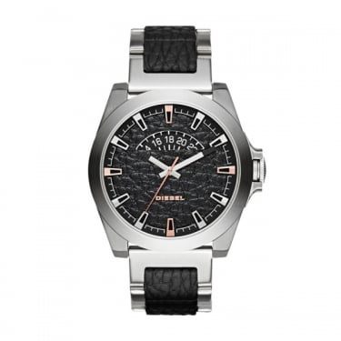 Diesel Gents Arges Silver and Black Watch