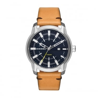 Diesel Gents Brown Leather Armbar Watches