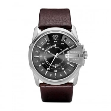 Diesel Gents Goose Brown Leather Strap Watch