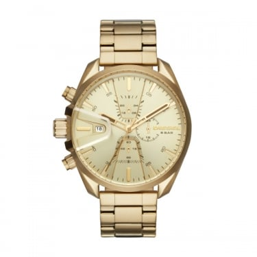 Diesel Gents Yellow Gold Chrono Watch