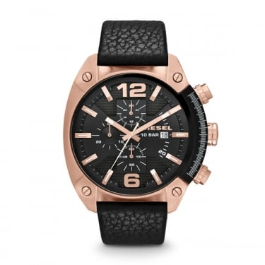 Diesel Overflow Rose Gold and Black Watch