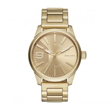 Diesel Yellow Gold Rasp Watch