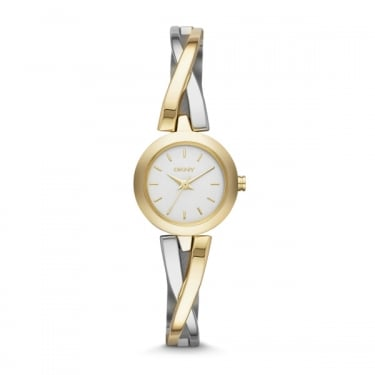 DKNY Crosswalk Gold and Silver Watch