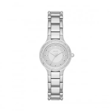 DKNY Ladies Silver Chambers Watch