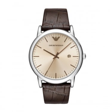 Emporio Armani Gents Brown Leather Watch