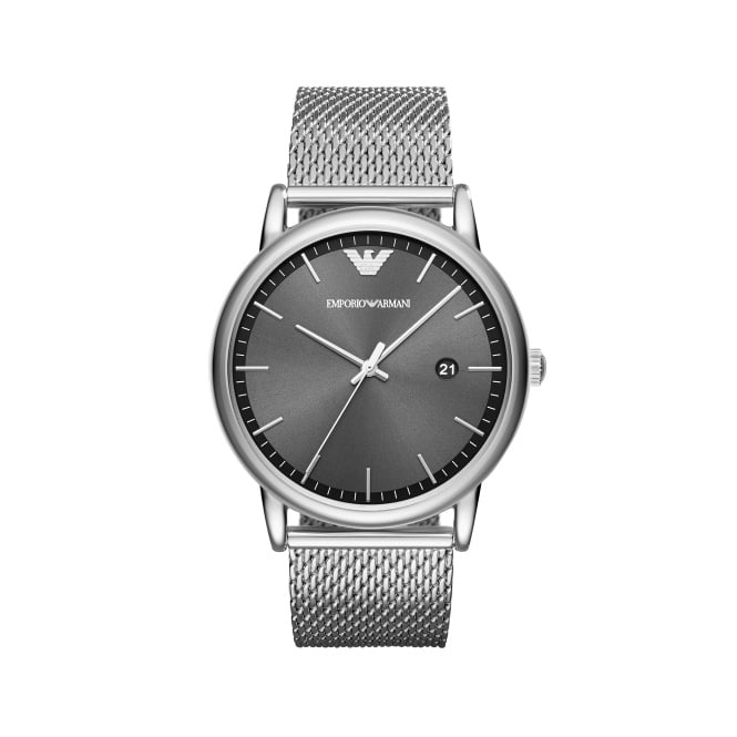 Emporio Armani Gents Luigi Silver Black Watch
