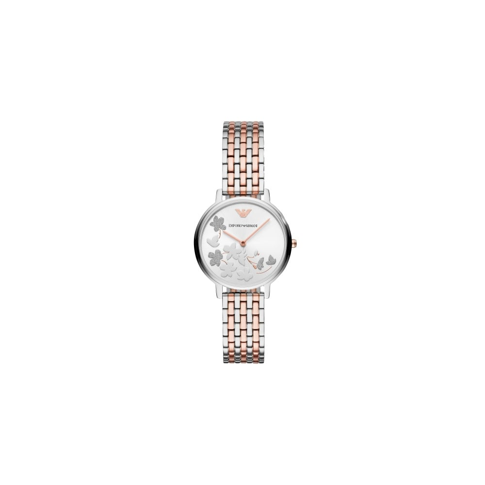 1293bbebcb8ca Emporio Armani Ladies Kappa Silver Rose Gold Watch - Women's Watches ...
