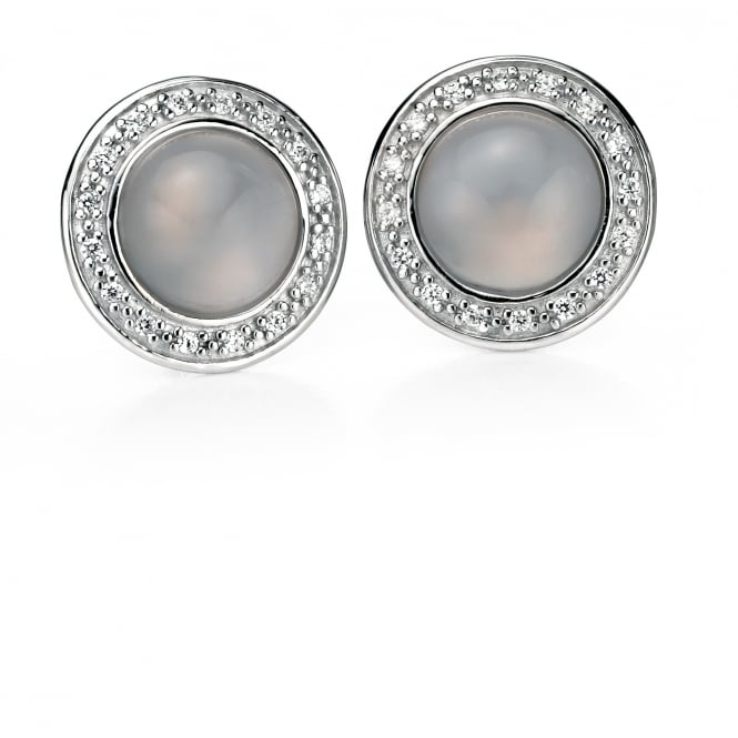 Fiorelli Chalcedony and Cubic Zirconia Stud Earrings