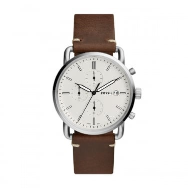Fossil Gents Brown Leather Commuter Watch