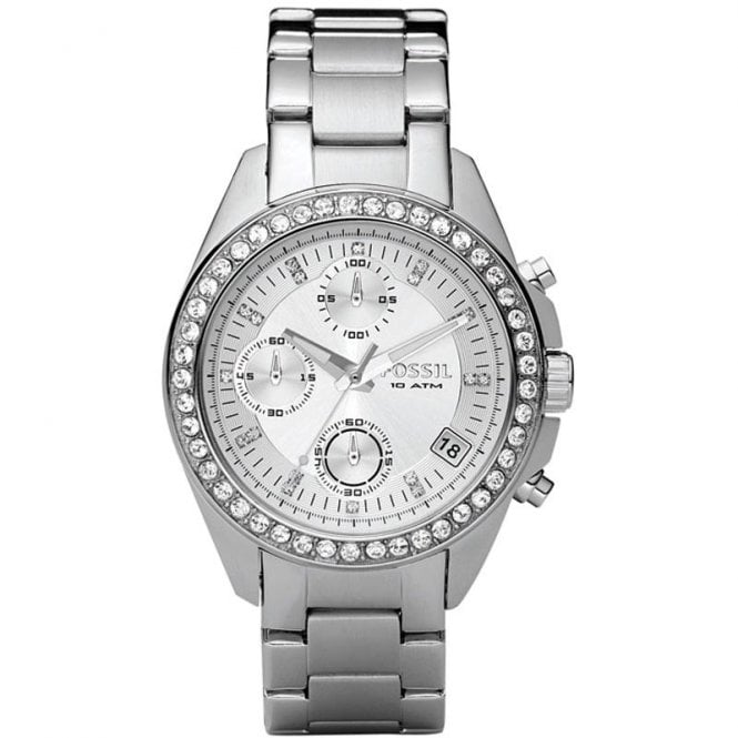 Fossil Ladies Decker Silver Watch - Womens Watches from