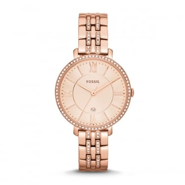 Fossil Ladies Jacqeline Rose Gold Watch