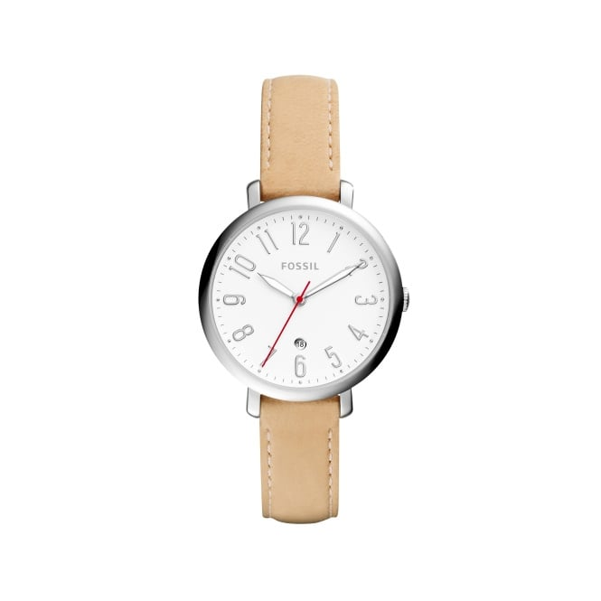 Fossil Ladies Nude Jaqueline Leather Strap Watch