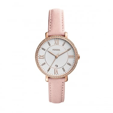 Fossil Ladies Pink Leather Jaqueline Watch