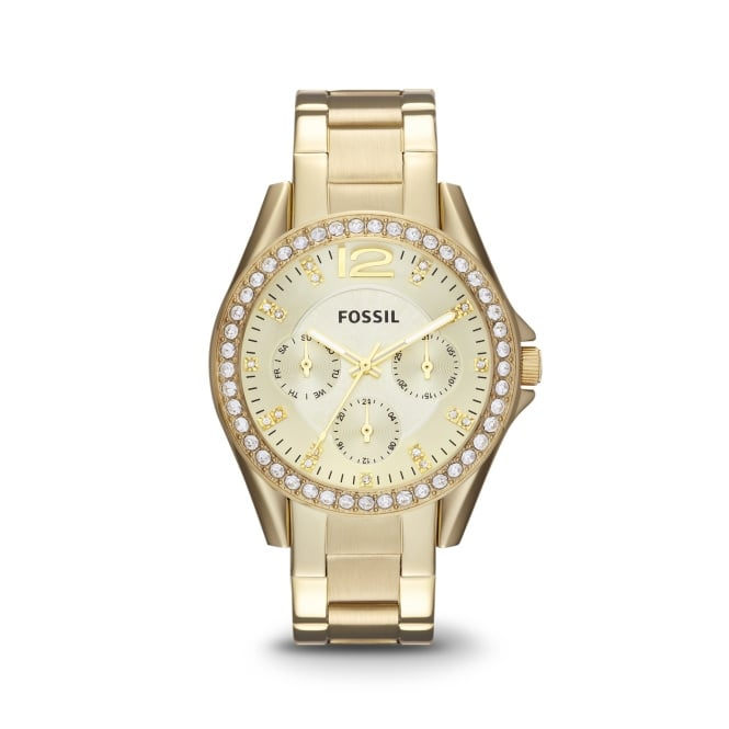 Fossil Ladies Riley Gold Tone Watch