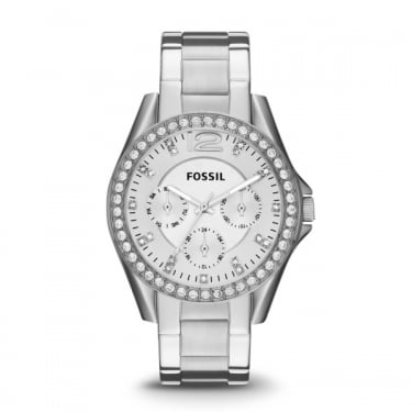 Fossil Ladies Riley Silver Watch