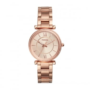 Fossil Ladies Rose Gold Carlie Watch